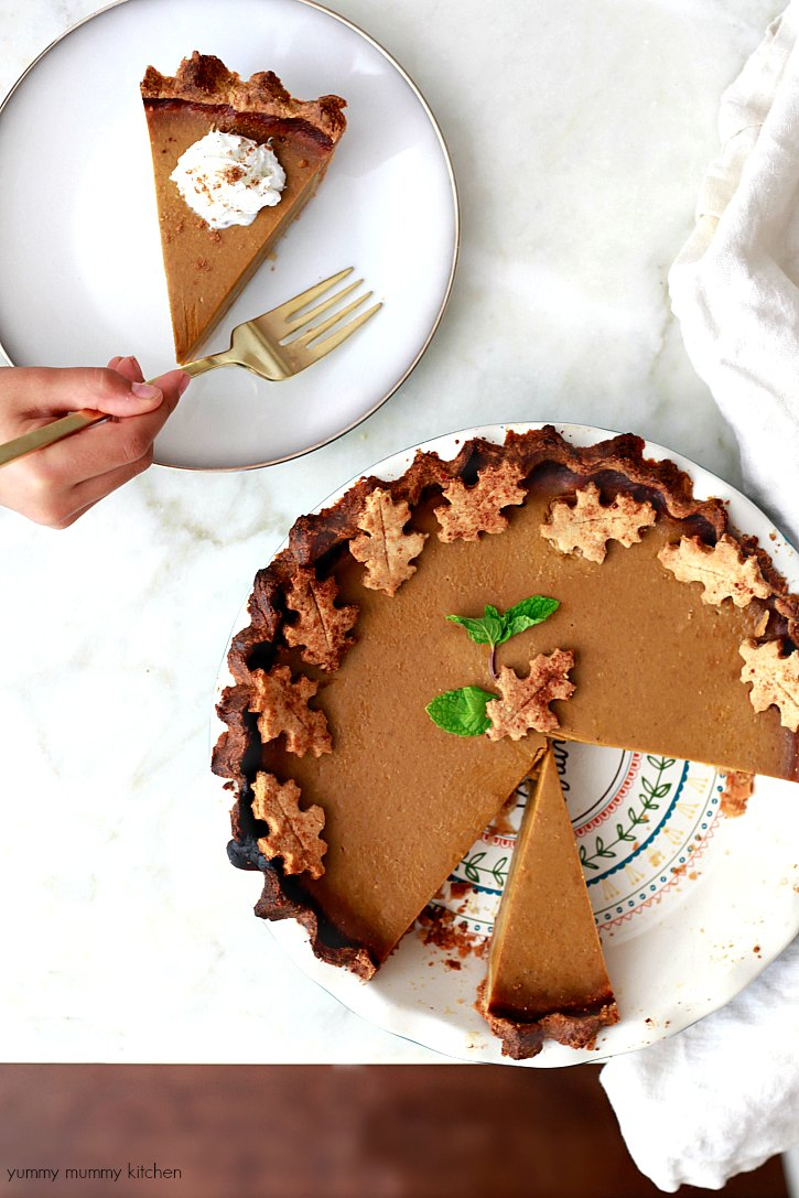 vegan thanksgiving pumpkin pie