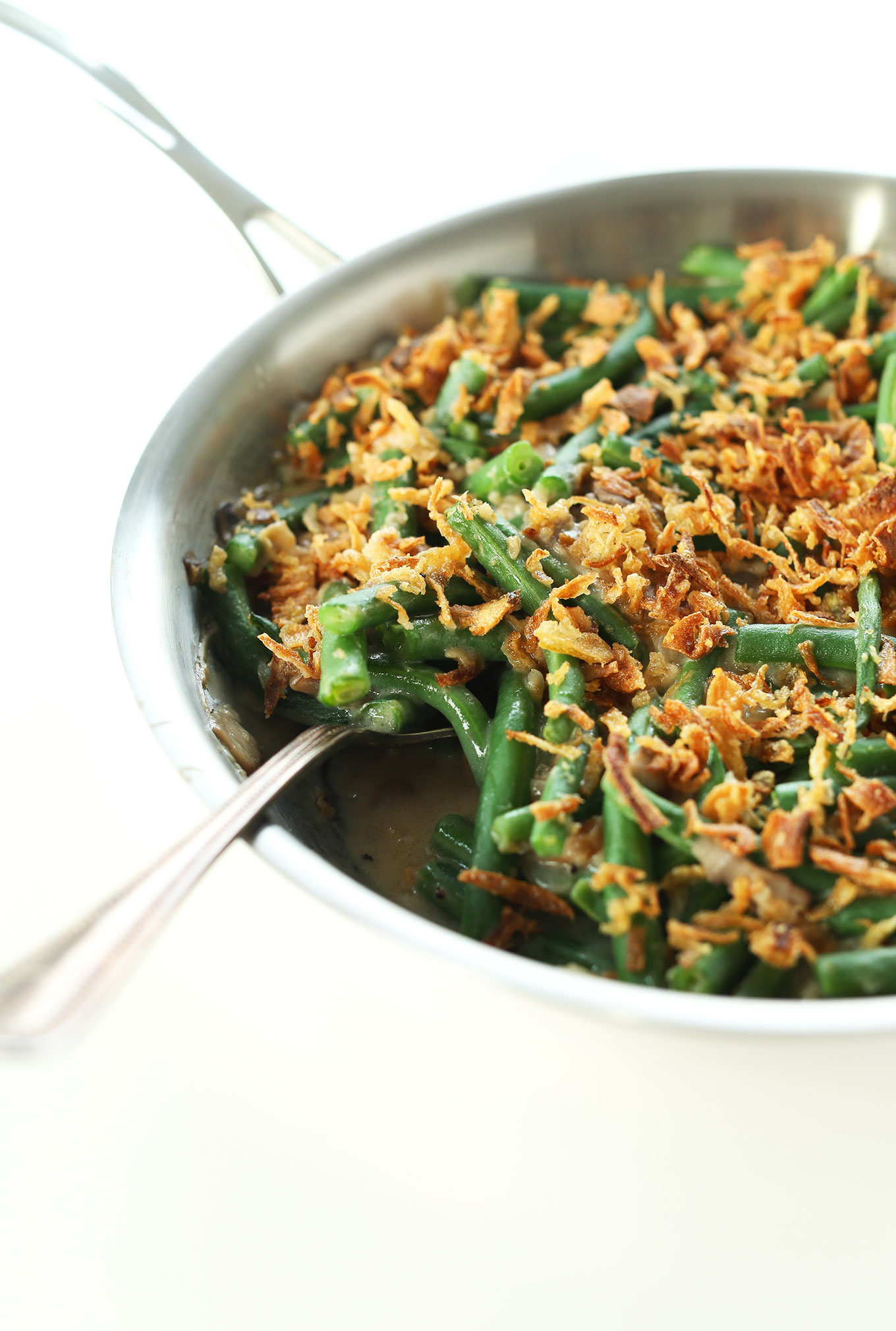 vegan thanksgiving green bean casserole