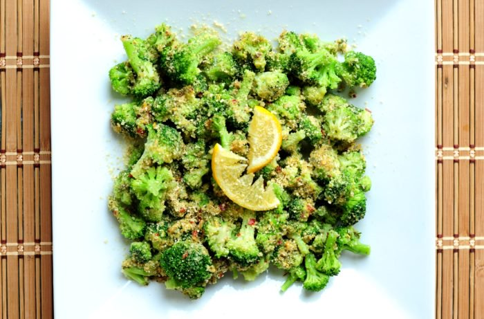vegan thanksgiving cheesy broccoli