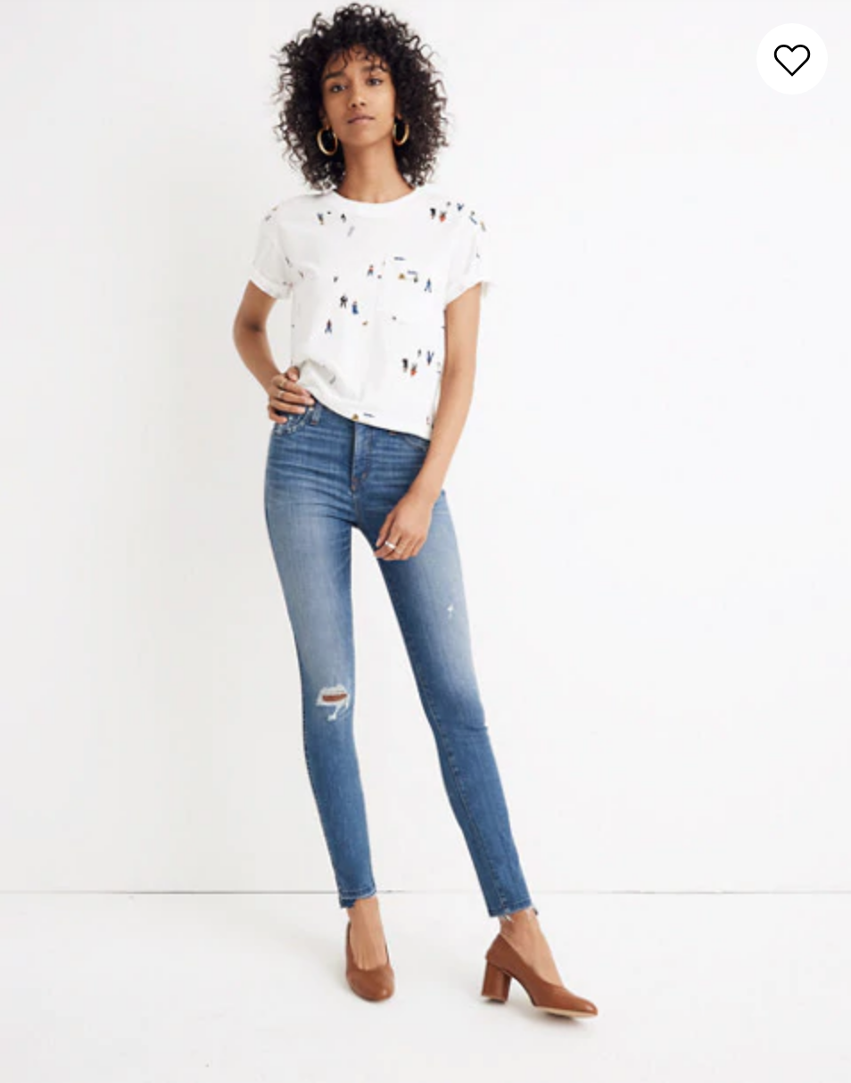 "Madewell 10"" High-Rise Skinny Jeans: Drop Step-Hem Edition"