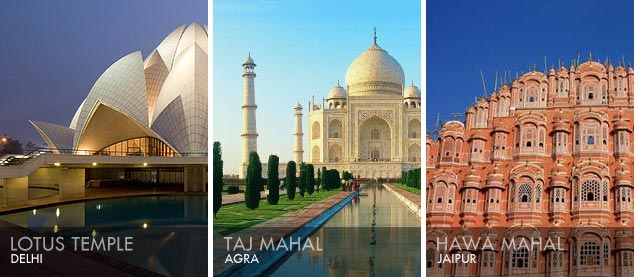 India the golden triangle delhi agra jaipur