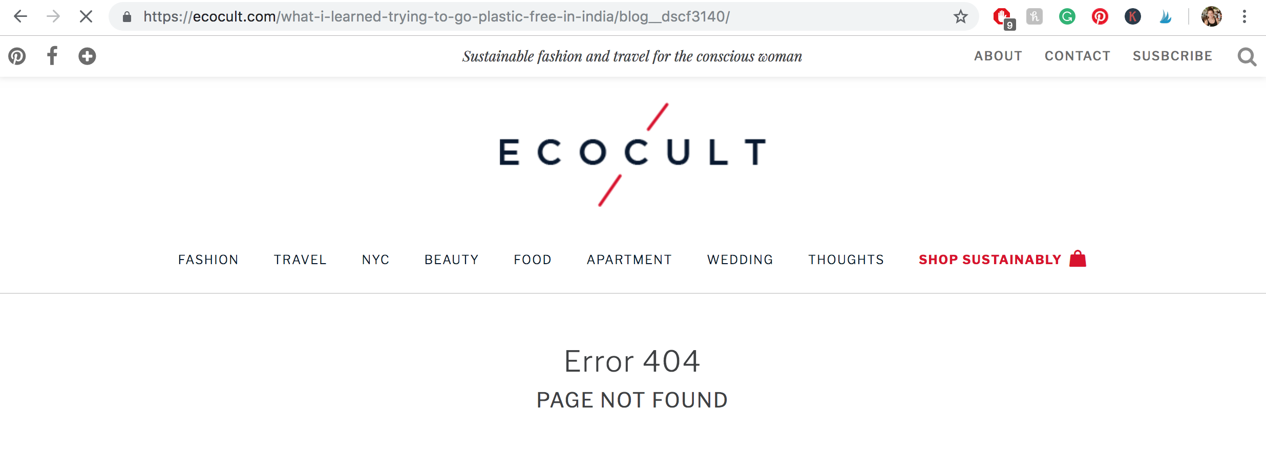 ecocult, plastic free india