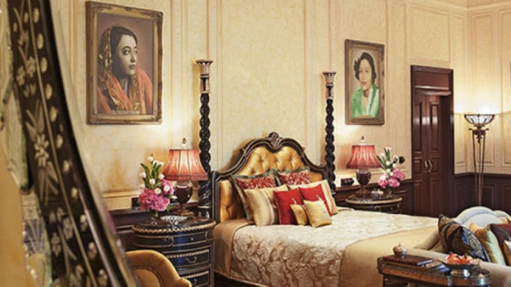 Rooms inside the Taj Rambagh Palace