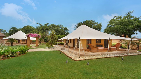 Luxury tents at the oberoi rajvilas jaipur india