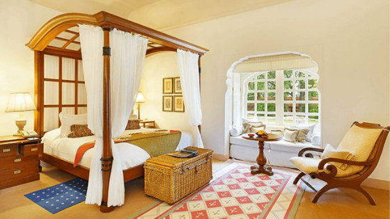 room at the oberoi rajvilas jaipur india