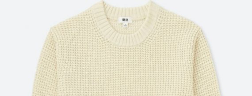 rib knit collar for stability and anti stretch