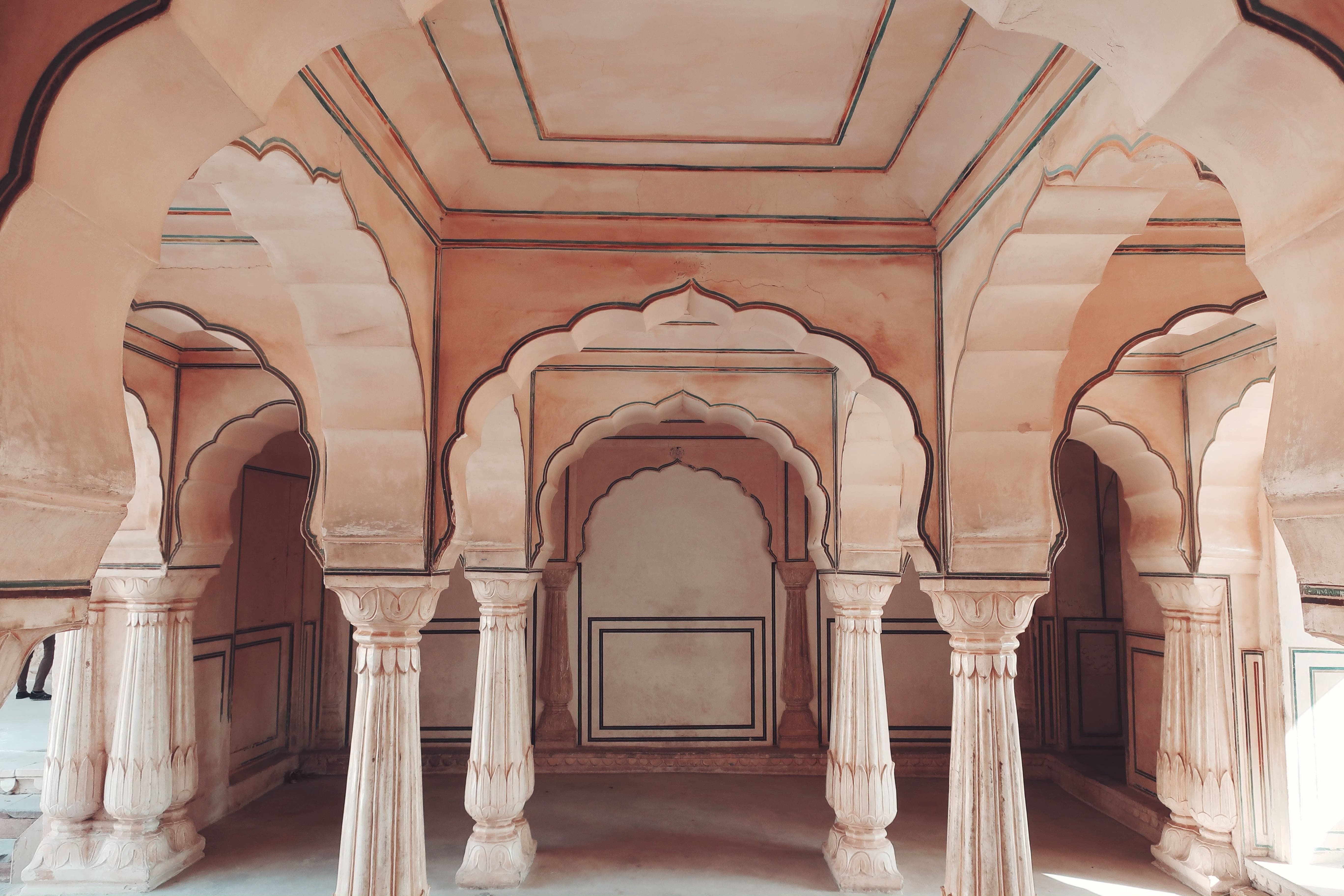 Diwan-e-Aam (Hall of Public Audience) inside the Amer Fort Jaipur