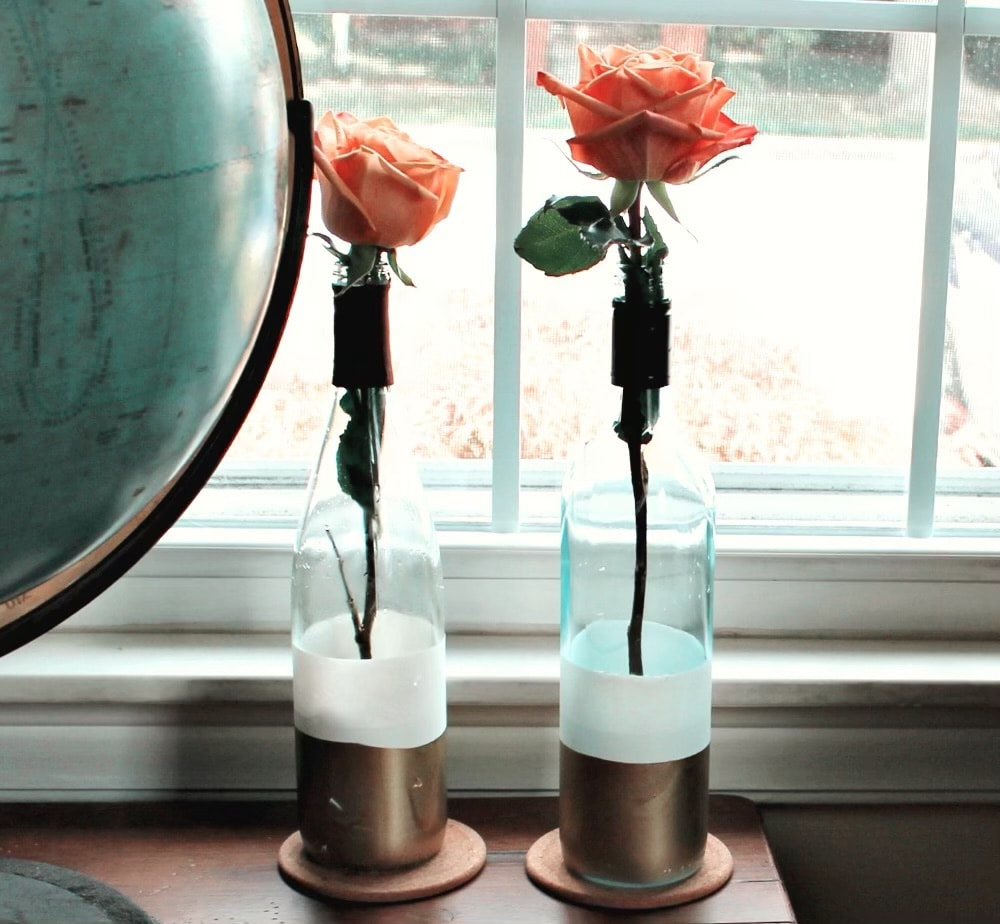 alternative to recycled polyester, upcycled flower vase