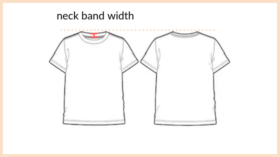 neck band width