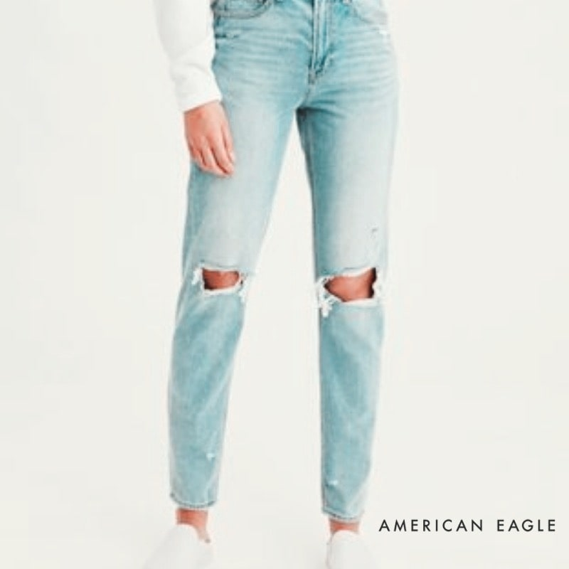cheap denim, american eagle boyfriend jeans