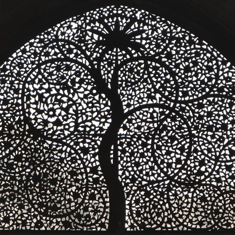 stone-carved jaali windows tree of life sidi saiyed mosque