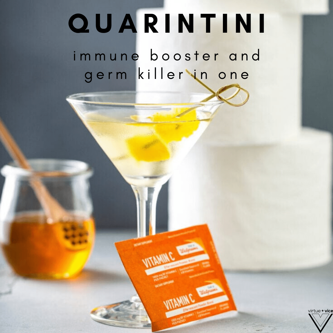 quarintini meme immune booster and germ killer in one